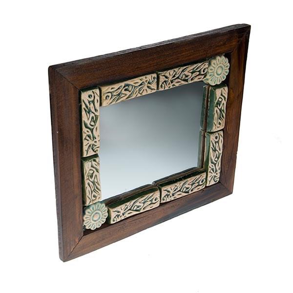 آیینه قاب چوبی